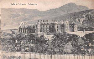 Scotland, UK Old Vintage Antique Post Card Holyrood Palace Edinburgh Unused