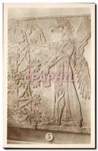 Old Postcard Louvre God tete d & # 39aigle