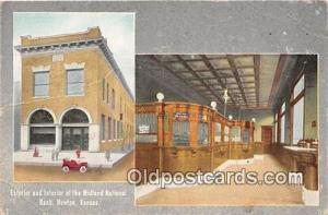 Exterior & Interior, Midland National Bank Newton, Kansas, USA Postcard Post ...