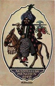 PC CPA ARABIAN TYPES AND SCENES, SCHWARZER, Vintage Postcard (b17447)