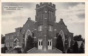 Arkadelphia Arkansas~First Methodist Church~Back From Watermelon Party~1951 B&W
