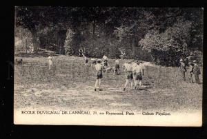 047035 FRANCE PARIS athlete School on Lesson Vintage