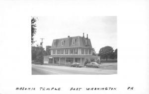 Fort Washington Pennsylvania Masonic Temple Real Photo Antique Postcard K63070