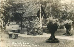 United States real photo postcard wishing well Vogt`s Summer Home