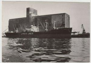 Shipping; MV Charlotte Lykes At Szczecin Grain Elevator RP PPC, Unused, c 1960's