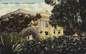 Exterior view of Carnegie Public Library, Long Beach, California, 00-10s