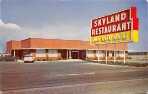 Perry Florida~Skyland Restaurant & Lounge~Classic Cars in Parking Lot~1950s PC
