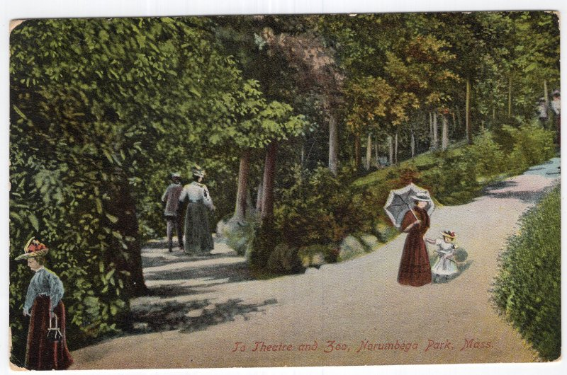 Norumbega Park, Mass, To Theatre and Zoo