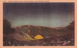 California Hollywood Night Scene At Hollywood Bowl 1947
