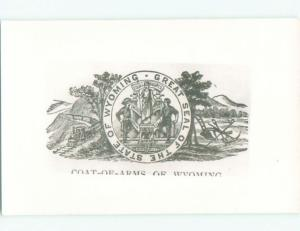 old rppc COAT OF ARMS Cheyenne Wyoming WY i8917