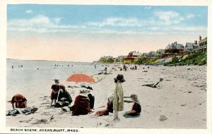 MA - Ocean Bluff. Beach Scene