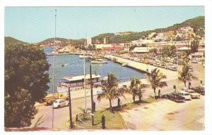 Waterfront, Charlotte Amalie Harbor, St. Thomas, Virgin Islands, 40-60s