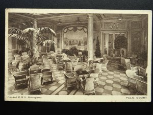 Shipping Cunnard Line R.M.S. BERENGARIA The Palm Court c1920 Postcard