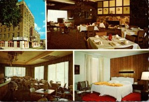 Michigan Sault Ste Marie Hotel Ojibway Showing Dining Room LOunge and Guest Room
