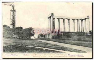 Old Postcard Edinburgh Neison And National Monuments