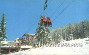 Chair Lift Ski Area, NM USA Skiing Postcard Post Card Old Vintage Antique  Ch...