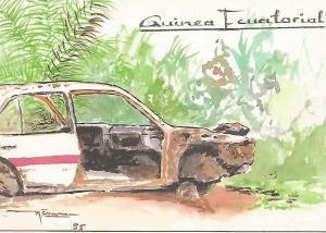 Postal 50582: GUINEA ECUATORIAL - Dibujo de Manuel Evana