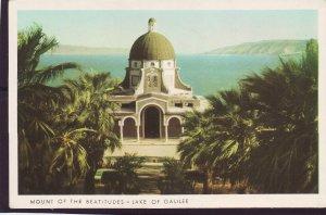 P1381 vintage unused postcard unused mount of beatitudes-lake of galilee israel