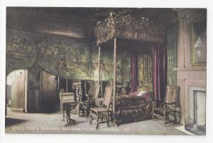 UK Edinburgh Scotland Holyrood Palace Queen Mary's Bedroom Vtg Postcard