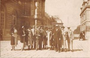 France People at Palace of Versailles Real Photo Antique Postcard J53837