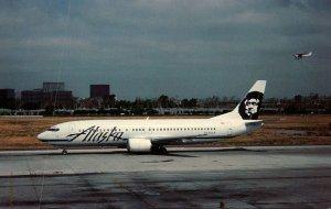 Alaska Airlines Boeing B-737-4Q8 At John Wayne Airport Orange County California