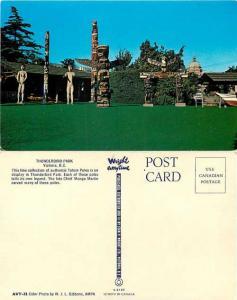 Thunderbird Park Totem Poles, Victoria, British Columbia, BC, Canada, Chrome