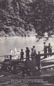 Boating On The Connoquenessing Camp Kon-O-Kwee Y M C A Camp Of Pittsburg Penn...