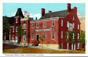 Virginia Fredericksburg Washington Mother Lodge Curteich