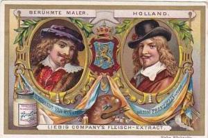 Liebig Vintage Trade Card S489 Famous Painters 1896 Rembrandt Van Ryn & Franz...