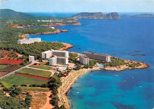 Spain Ibiza Baleares Es Canar Playa Hotel Beach Aerial view