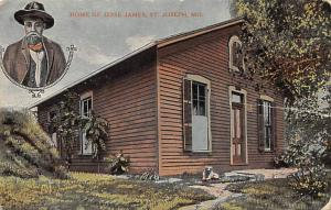 Home of Jesse James, St. Joseph, MO, USA PU Unknown