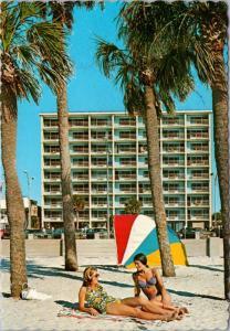 Spy Glass Motel Clearwater Beach Florida FL Unused Vintage Postcard D36