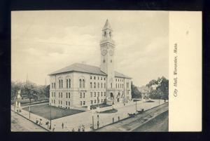 Worcester, Massachusetts/MA/Mass Postcard, City Hall #2