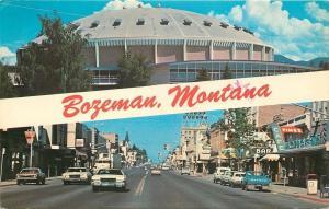 Bozeman Montana~Field House~Downtown~1970s Cars PC