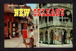 LA Greetings From New Orleans Louisiana Vieux Carre Postcard Carte Postale