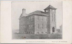 Fort Saskatchewan Alberta Public School Unused Sutherland Litho Postcard G98