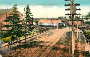 c1910 Mitchell Postcard 1217 Main Street at Navy Yard Bremerton WA Kitsap County