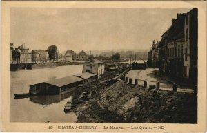 CPA Chateau Thierry La Marne, Les Quais FRANCE (1051795)