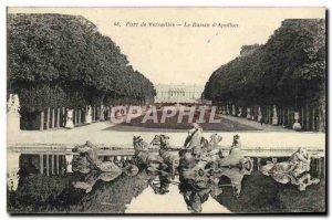 Old Postcard Park of Versailles Basin & # 39Apollon