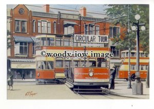tm6034 - Southport Corporation Trams No.23 - Artist - G.S.Cooper - postcard