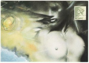 Maidens Castle by Nick Bantock Nude Collage Art Postcard