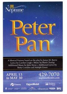 Peter Pan, Neptune Theatre, Halifax, Nova Scotia, Advertising 2019