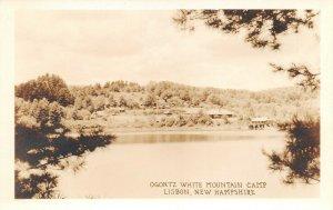 LPS29 Lisbon New Hampshire Ogontz White Mountain Camp Postcard RPPC
