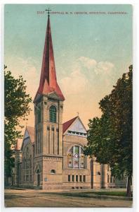 Central M E Church Stockton California 1910c postcard