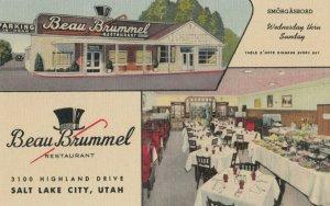 SALT LAKE CITY, Utah , 1930-40s ; Beau Brummel Restaurant