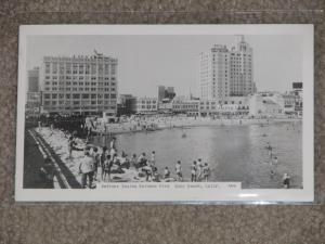 RPPC, Bathers inside Rainbow Pier, Long Beach, Calif.