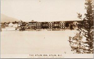 The Atlin Inn Atlin BC Unused CNR Real Photo Postcard E82