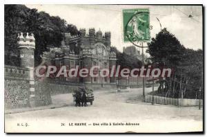 Old Postcard Le Havre A Villa Sainte Adresse