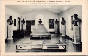 postcard OH - McKinley Memorial - relics and statues - Artvue