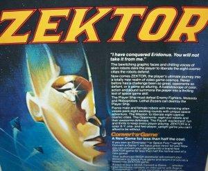 Zektor Arcade FLYER 1982 Original Sega Vintage Video Game Space Age Art Sheet